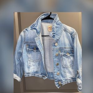 Crop Jean Jacket Size XL Juniors